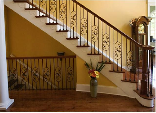 Stair Banisters And Railings | Pictures For Wood And Iron Stair Railing Ad#  84891