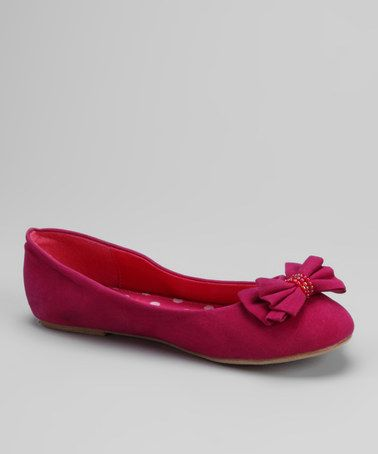 Take a look at this Fuchsia Tamara-K Ballet Flat by Blow-Out: Kids' Shoes on #zulily today!