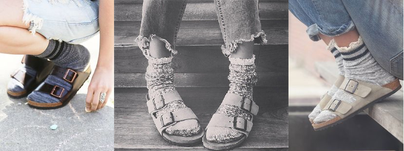 531c6f31bb4b Wear your Birkenstock Arizona Sandals all year long by adding some cute wool  or cotton socks! Ruffles