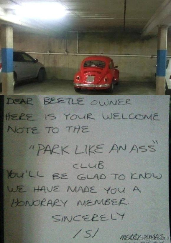 Some Drivers Deserve A Special Parking Note On The Windscreen