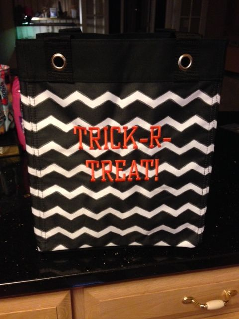 Thirty One Gifts Essential Storage Tote In Black Chevron