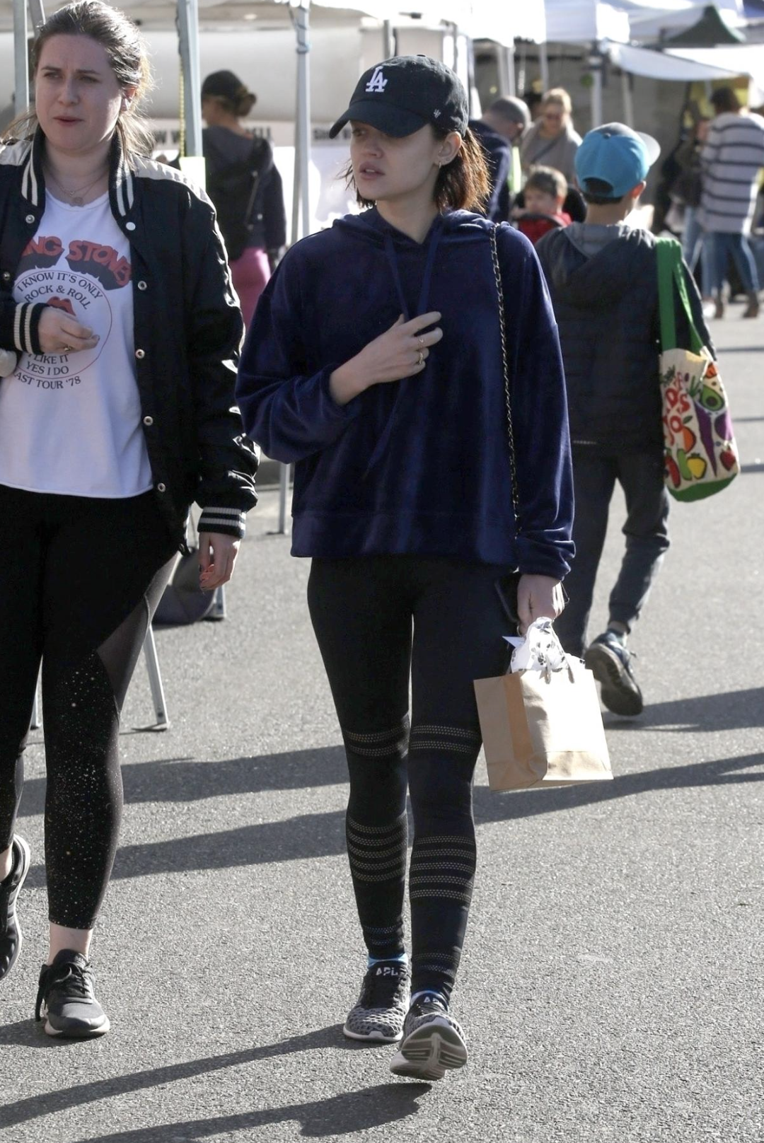 ec23fad2e93083 Lucy Hale wearing the Sanctuary Melrose Brigade Velour Hoodie ...