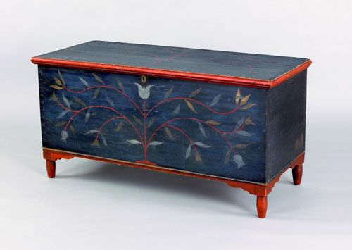Centre County, Pennsylvania painted chest, early 19th c. All Original