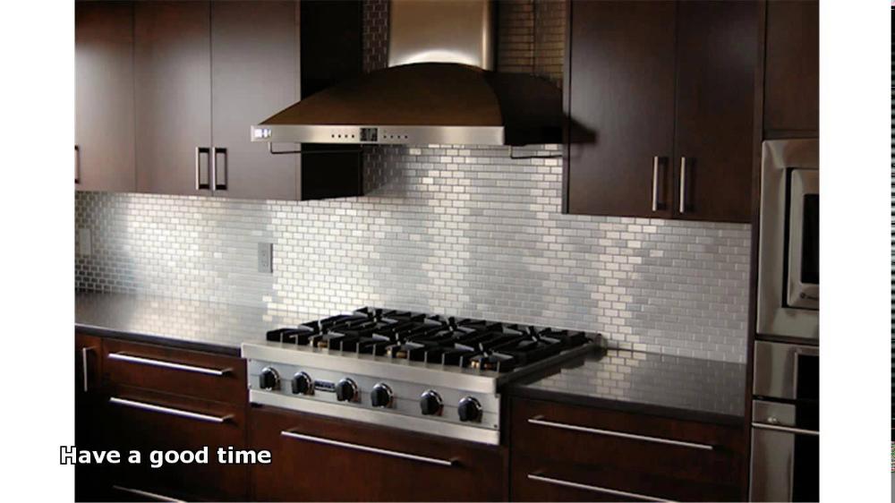 Elegant Stainless Steel Backsplash Sheet 1966 Witzke Berry Tile Behind Stove In 2020 Trendy Kitchen Backsplash Contemporary Style Kitchen Stone Tile Backsplash Kitchen
