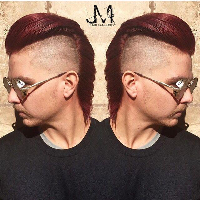 Men S Haircut A Hair Color Dark Purple Hair Wine Hair Color Jm