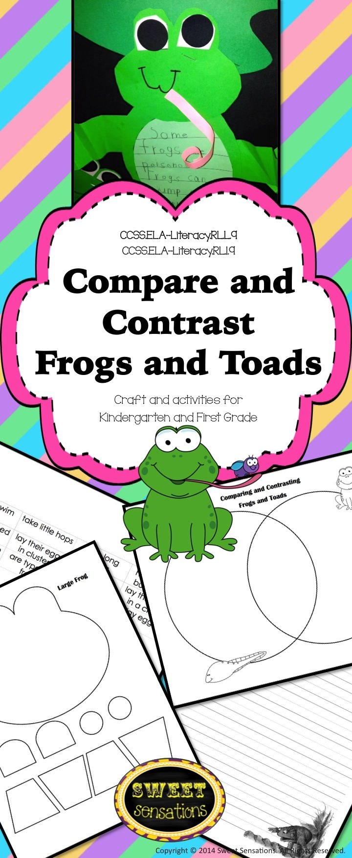 Frogs and toads compare and contrast k 2 rlk9 rl19 pond life compare and contrast frogs and toads this packet contains all you need to enhance pooptronica Gallery