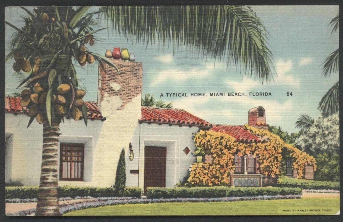 Bungalow Miami miami home bungalow house in florida postcard florida