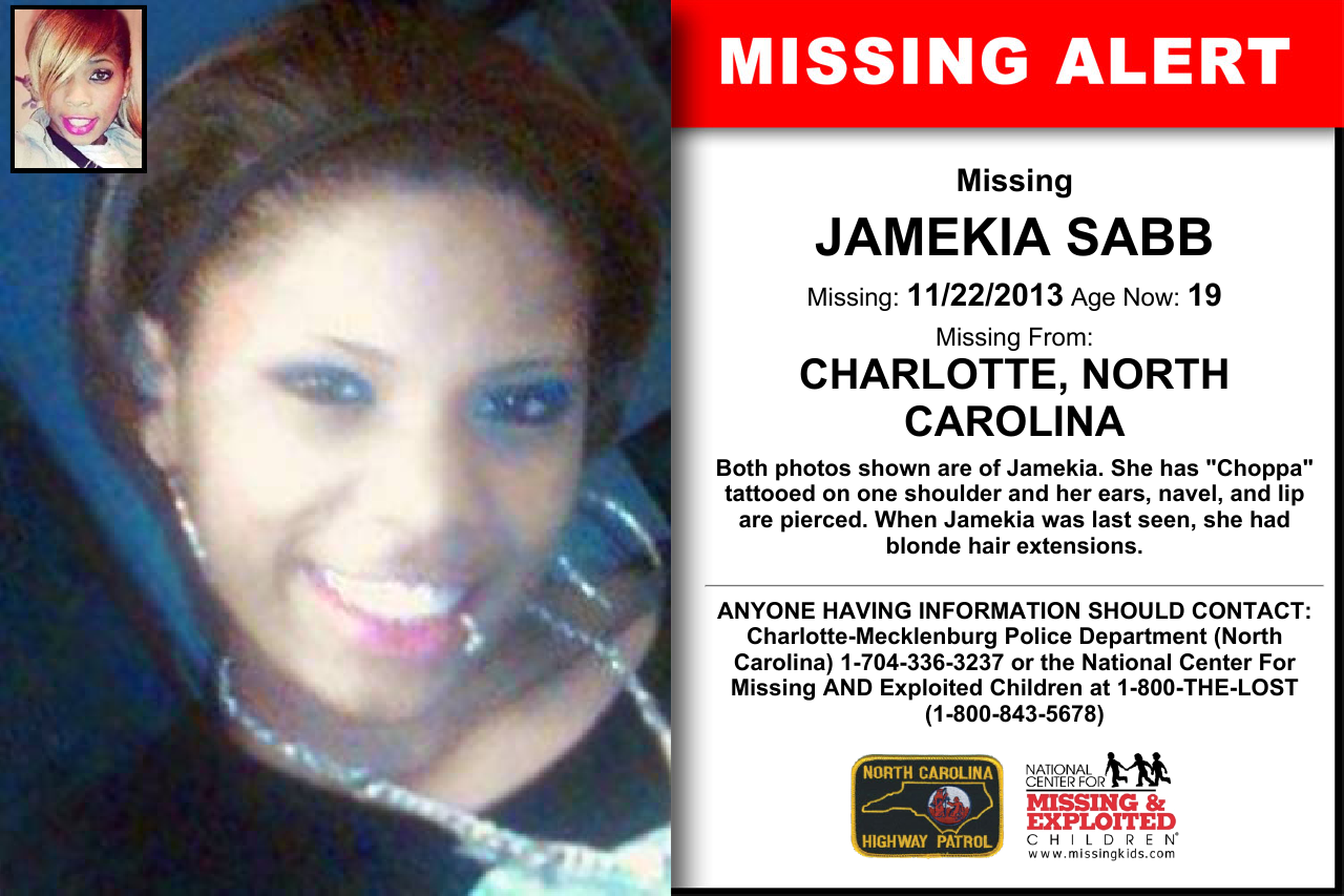 Jamekia Sabb Age Now 19 Missing 11222013 Missing From