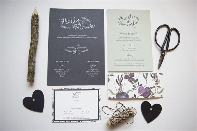 Chalkboard Wedding Stationery from Wonderland Invites