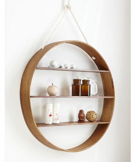 Wooden Circle Shelf