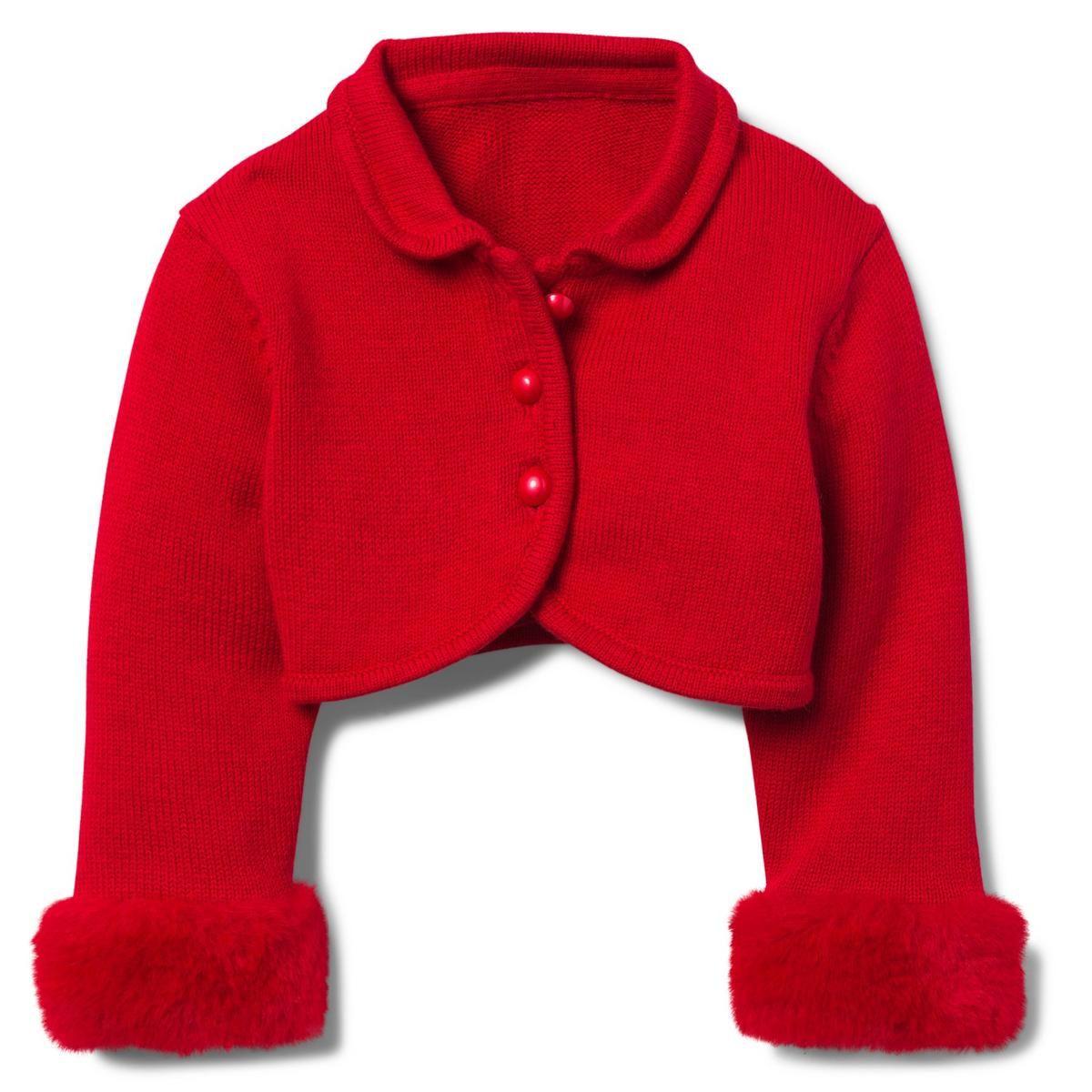 Jack And Janie Fur Cuff Sweater: Cropped Cardigan, Faux Fur, Fur