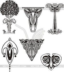 Vignetten im jugendstil vektorisierte abbildung for Ornamente jugendstil