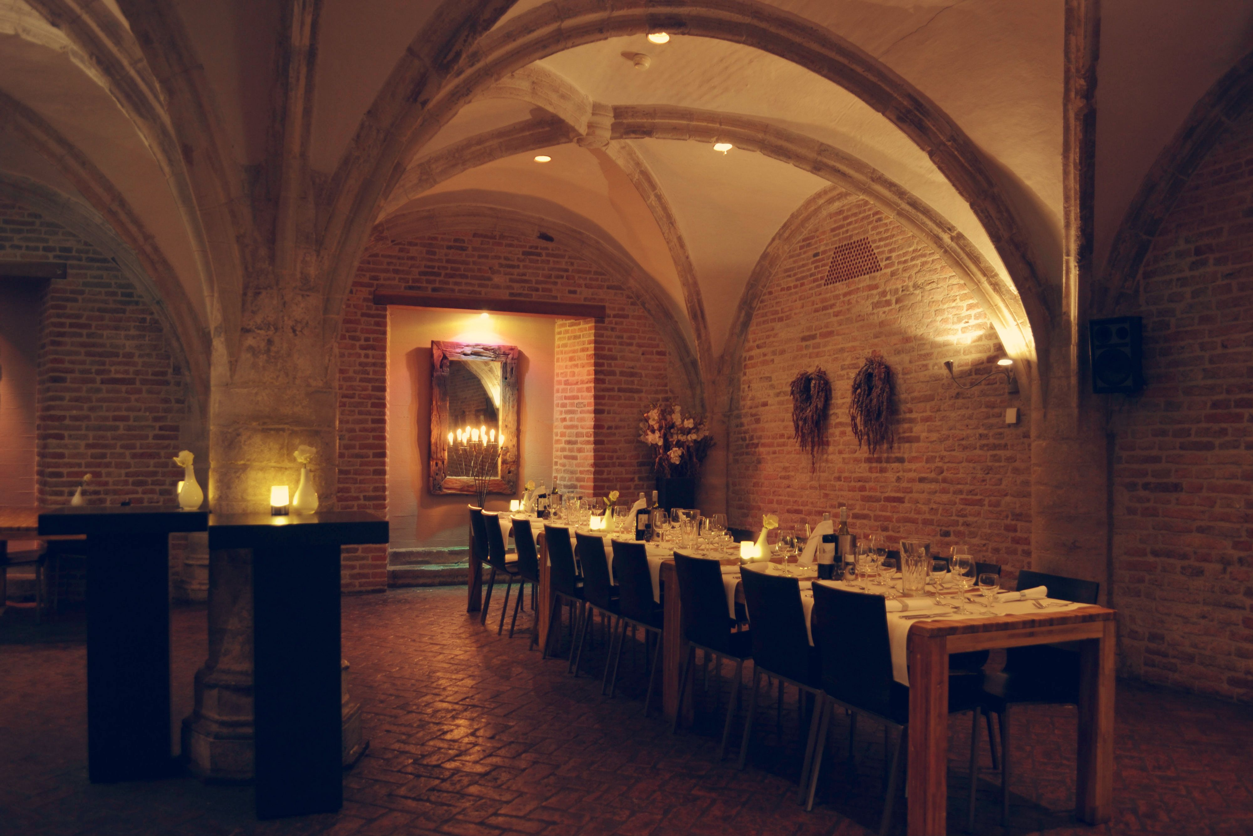 Romantic wedding venue suitable for a sit down dinner and