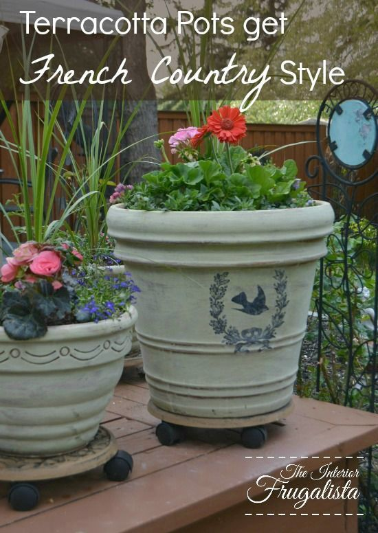 Terracotta Pots Get French Country Style. Project IdeasDiy ...