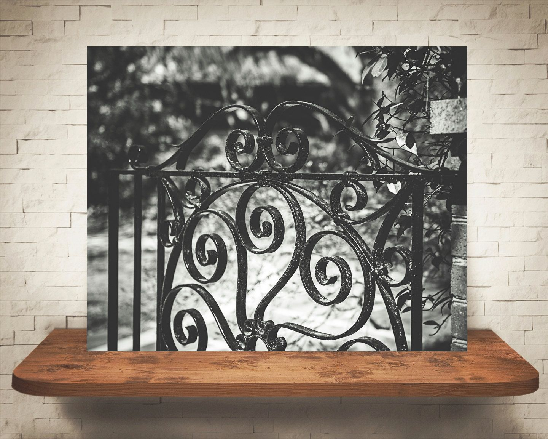 Iron Gate Wall Decor Awesome Wrought Iron Gate Photograph  Fine Art Print  Wall Decor  Black Design Ideas