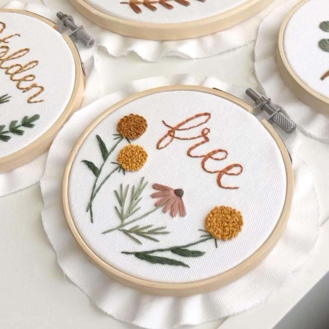 Décor de broderie moderne   – Embroidery Hoop Art