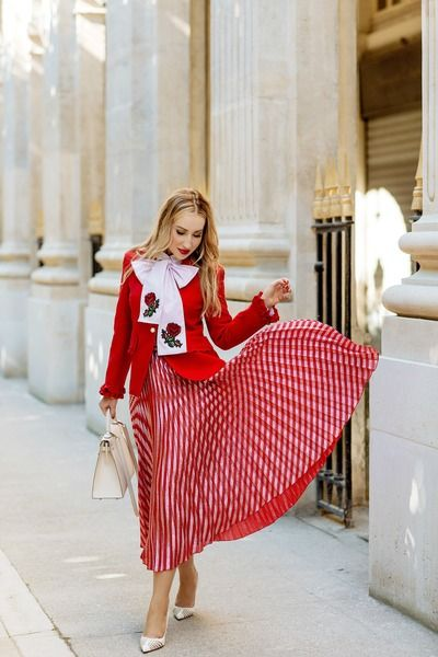 red Gucci skirt