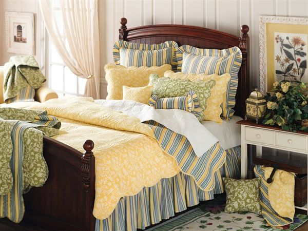 Yellow Toile Quilt by C&F | Toile Quilts, Comforters, Duvets ... : yellow quilts and comforters - Adamdwight.com