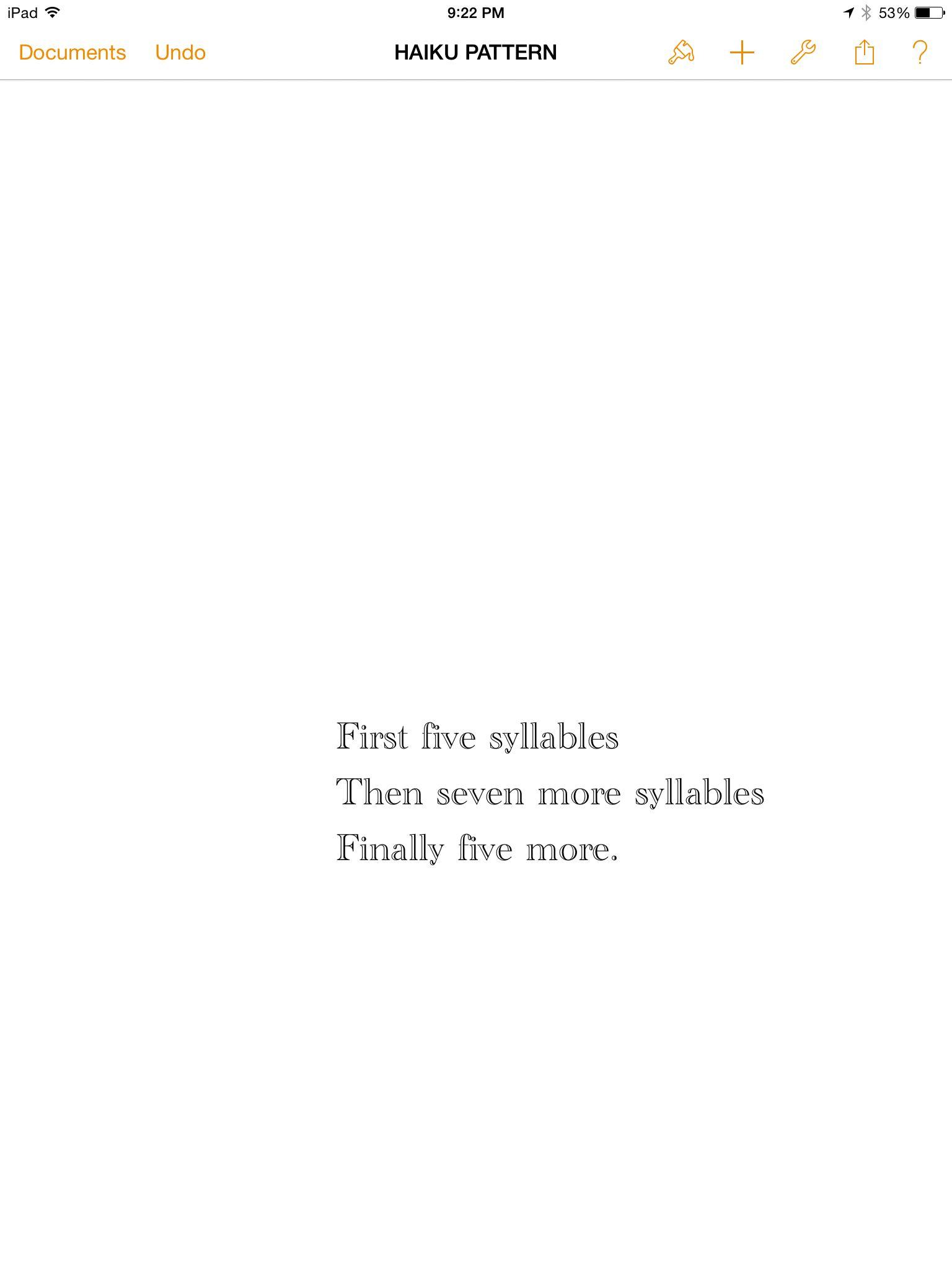 Haiku Pattern