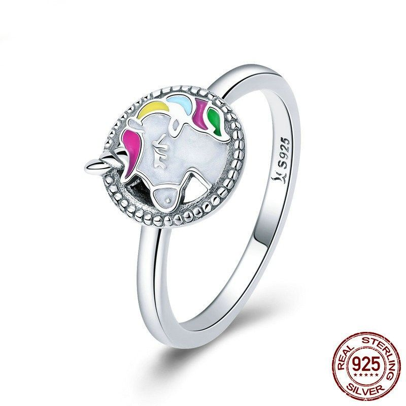 577a575602ac8 Personalized 925 Sterling Silver Cubic Zirconia Unicorn Ring in 2019 ...