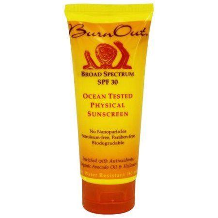 BurnOut Ocean Tested SPF 30 Physical Sunscreen, 3.4 Oz, Multicolor