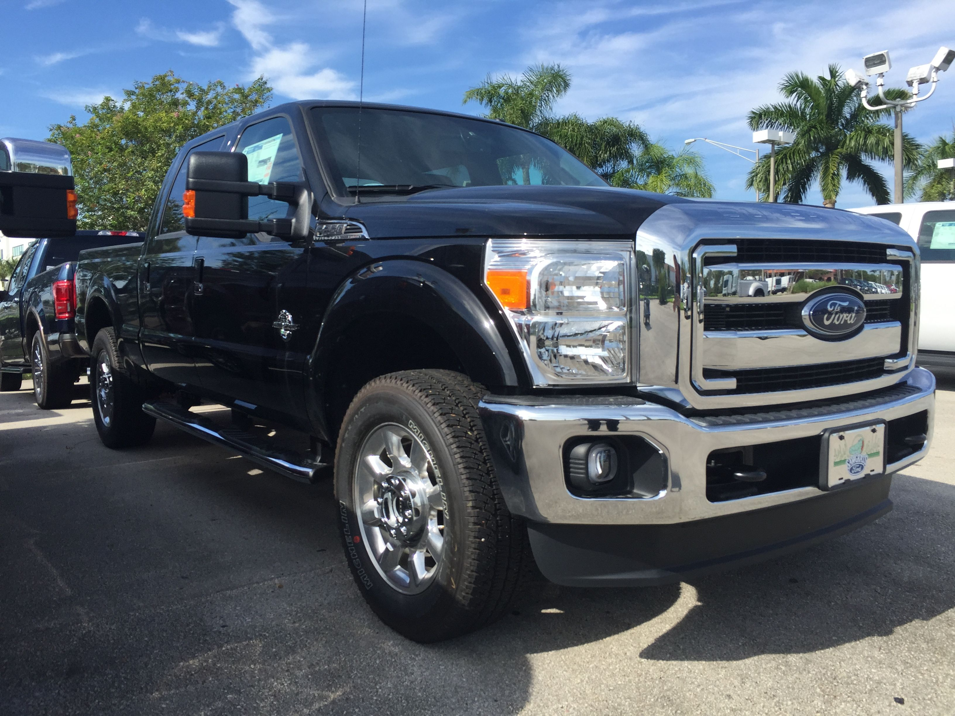 Ford Trucks 2016 >> Black 2016 Ford F 250 Lariat Diesel Trucks Ford Trucks 2016