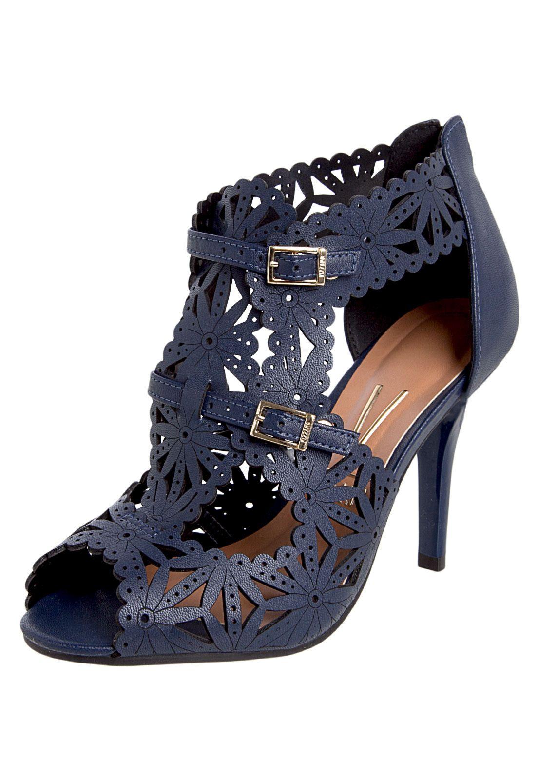 302761f3e9 Sandália Vizzano Boot Floral Azul - Compre Agora