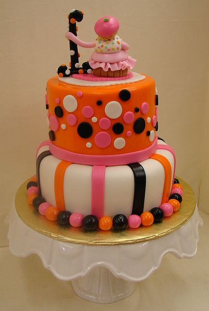 Whimsical Halloween Birthday Cake By JMC Custom Cakes Via Flickr