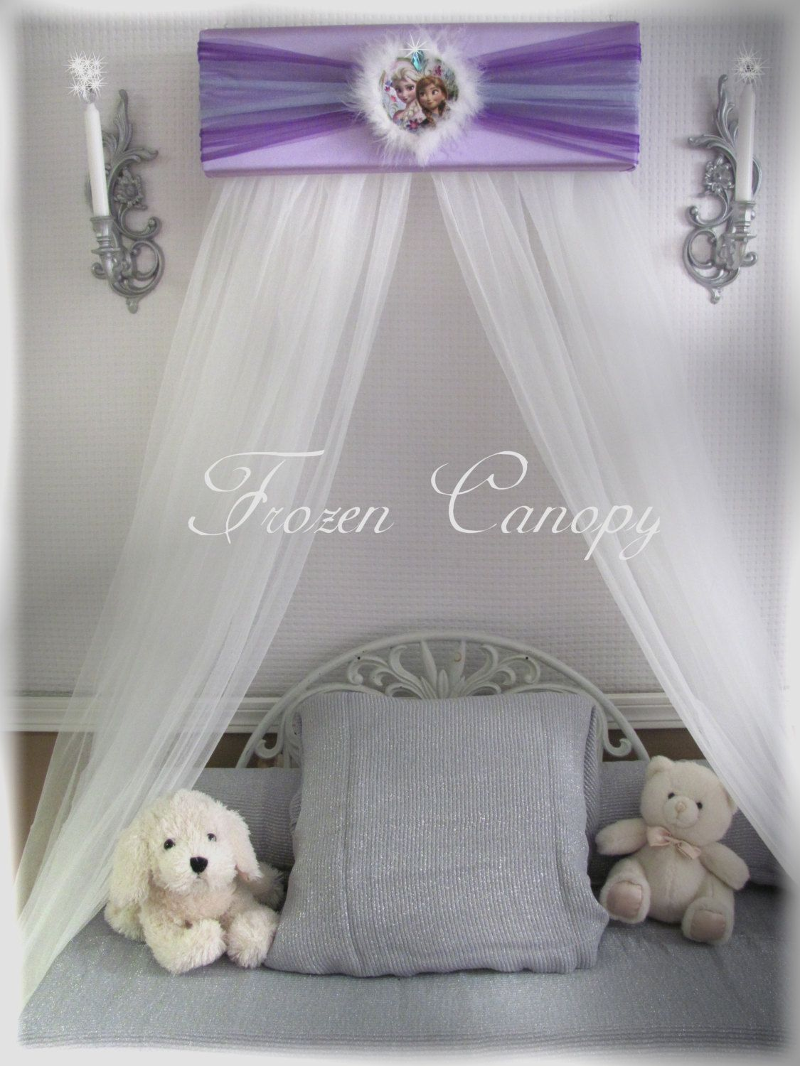 FrOzEn Disney Bed Canopy CrOwN Pelmet Upholstered Awning SaLe Lavender Purple Blue by SoZoeyBoutique on Etsy & FrOzEn Disney Bed Canopy CrOwN Pelmet Upholstered Awning SaLe ...