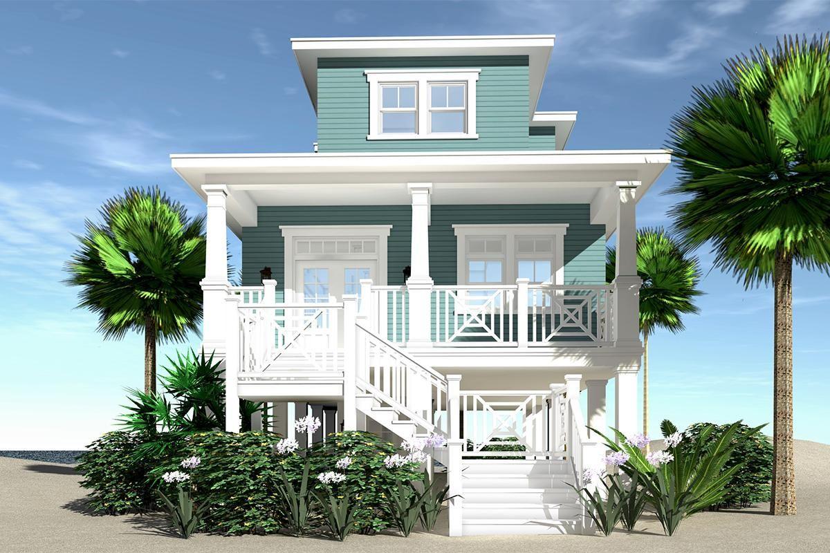 House Plan 028 00117 Coastal Plan 1 805 Square Feet 3 Bedrooms 3 5 Bathrooms Coastal House Plans Beach House Floor Plans Beach House Plan