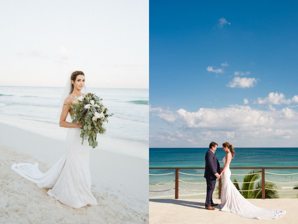 A look at Bride Geniffer\'s destination beach wedding in paradise and ...