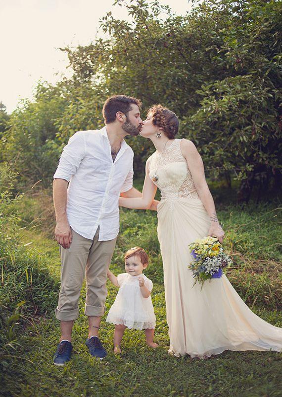 Intimate Backyard Wedding: Laura + Josh | Real Weddings