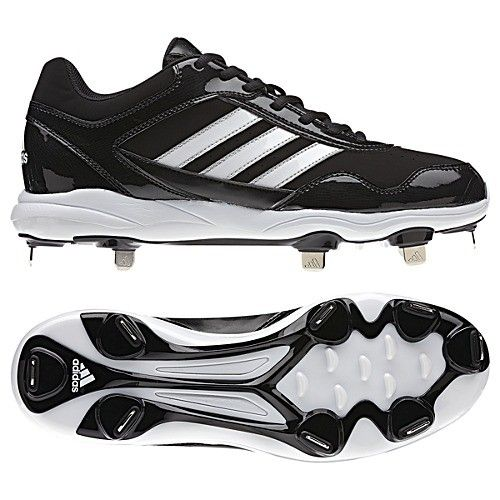 Adidas Excelsior Pro Metal Low Mens Baseball Cleats G59119 Black -White-Silver