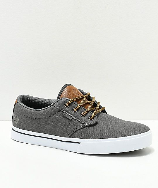 Etnies Jameson 2 Eco Grey & Brown Skate Shoes | Zapatos hombre ...