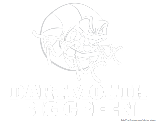 Dartmouth Big Green Basketball Coloring Sheet - Printable | College ...