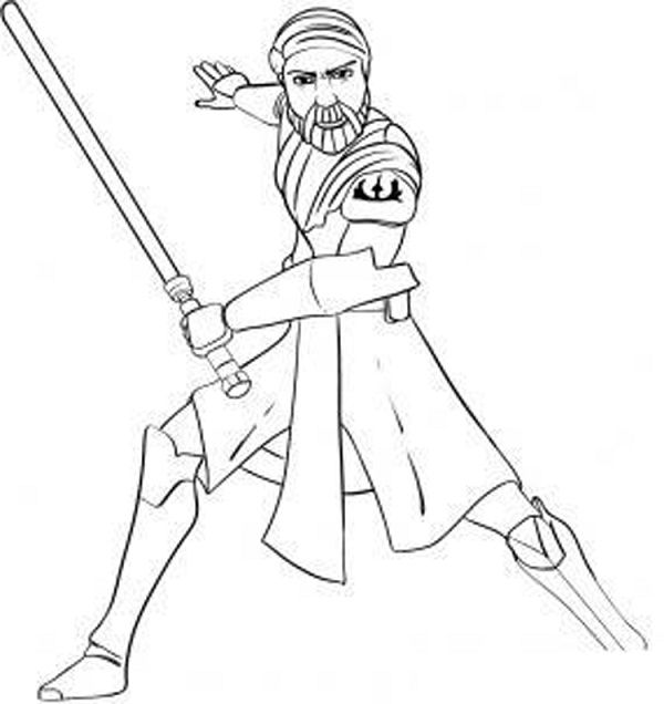 star wars coloring pages clone wars | coloring kids | Pinterest ...
