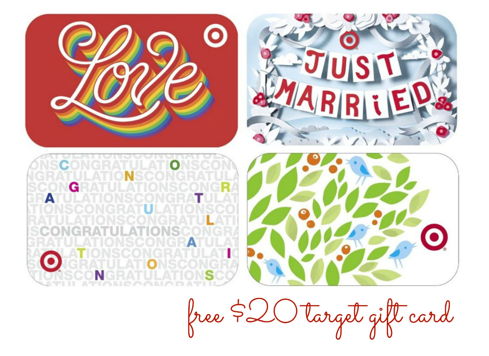 FREE 20 Target Gift Card with Wedding Registry