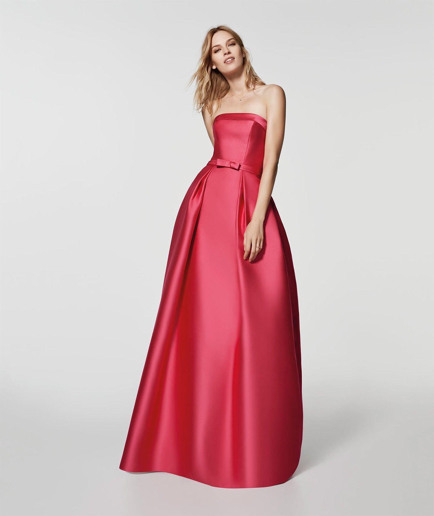 Photo of the pink cocktail dress (62052) GLORIA long sleeveless ...