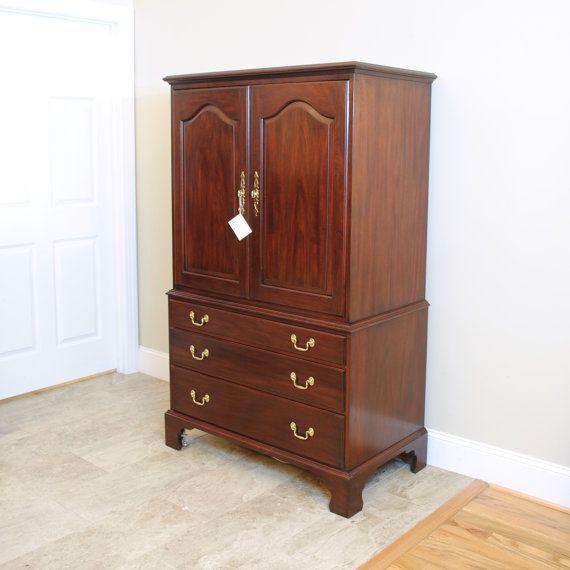 Henkel Harris Mahogany TV Cabinet Armoire By PrettyRuggedDesigns