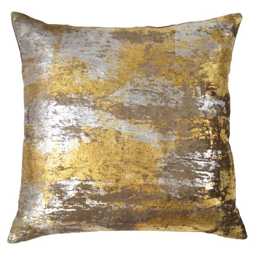 Abstract Throw Pillow Abstract Throw Pillow Metallic Pillow Metallic Throw Pillow