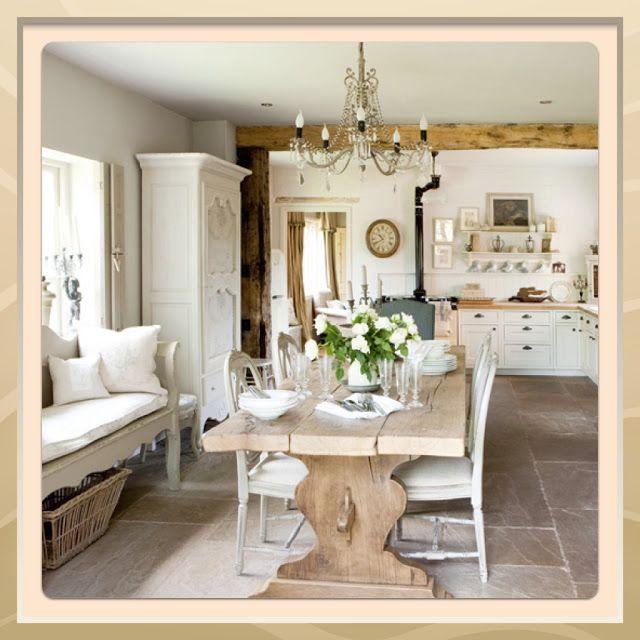 sala da pranzo e cucina shabby chic | Home Shabby chic Home ...