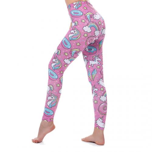 Womens High Waisted Leggings Yoga Workout Pants Unicorn