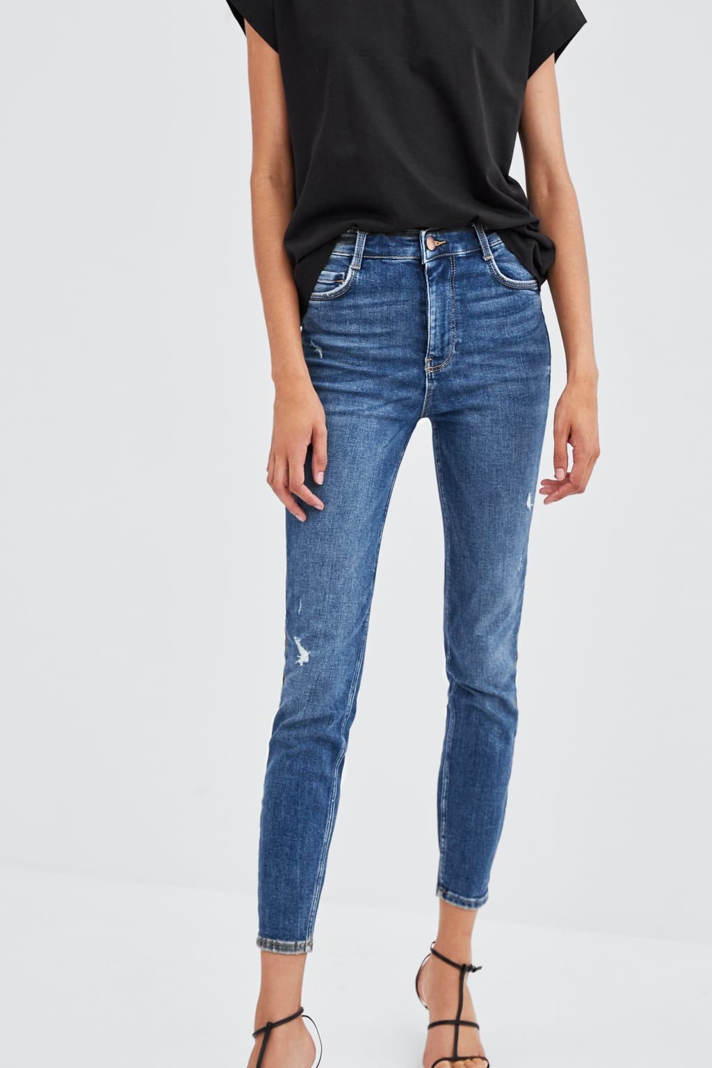 29bd1717 Image 3 of RIPPED VINTAGE HI-RISE JEGGINGS from Zara | Fashion ...