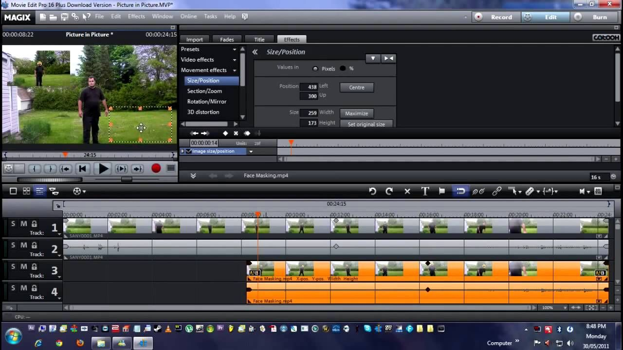 How To Do Picture In Picture In Magix Movie Editor Paragon Backup Video Editing