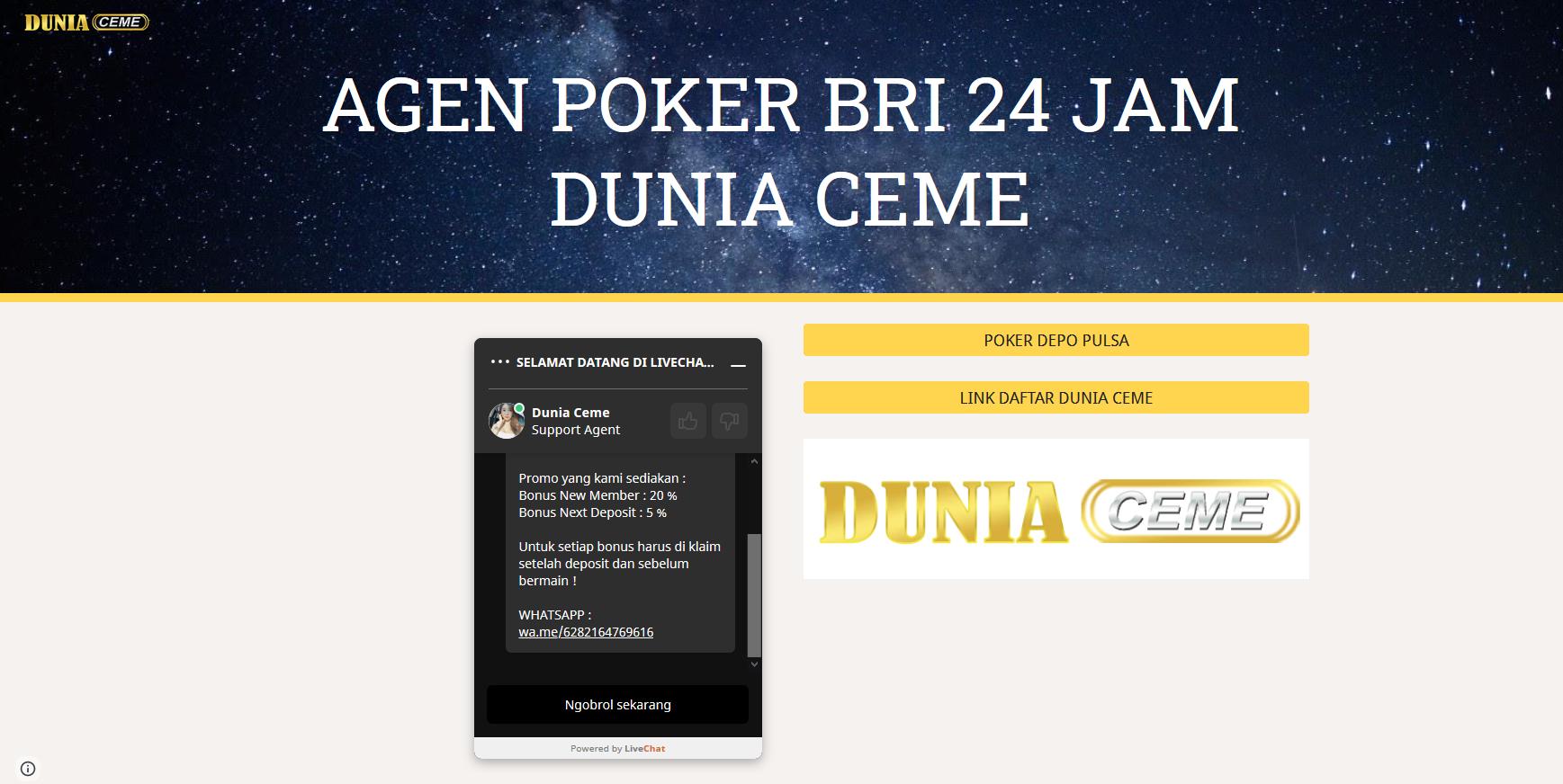 Agen Poker Bri 24 Jam Dunia Ceme Poker Agen Online