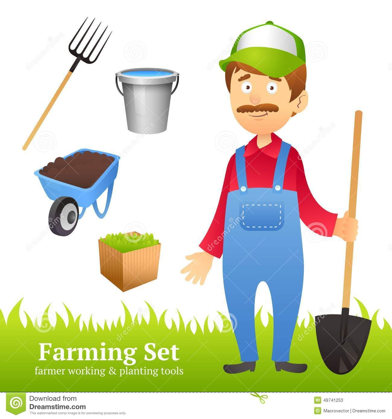 Image Result For Picture Of Farmer With Tools