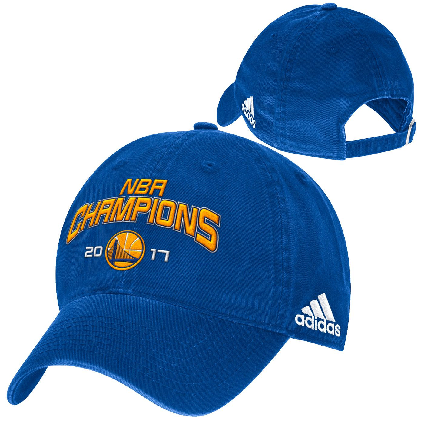 Golden State Warriors adidas 2017 NBA Finals Champions Slouch Adjustable Cap  - Royal 2dd71efee
