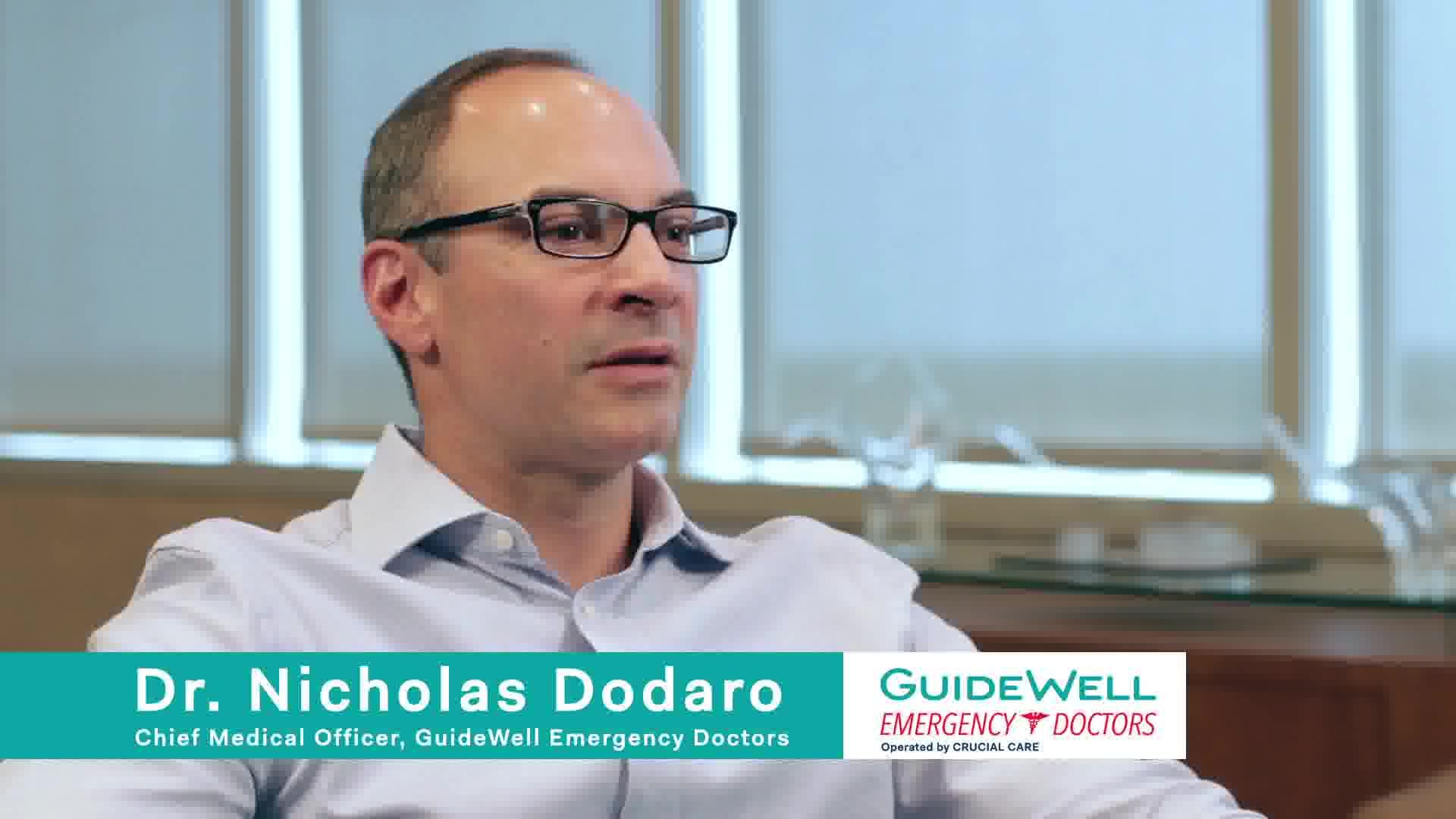 Nicholas Dodaro MD is the Chief Medical ficer for GuideWell