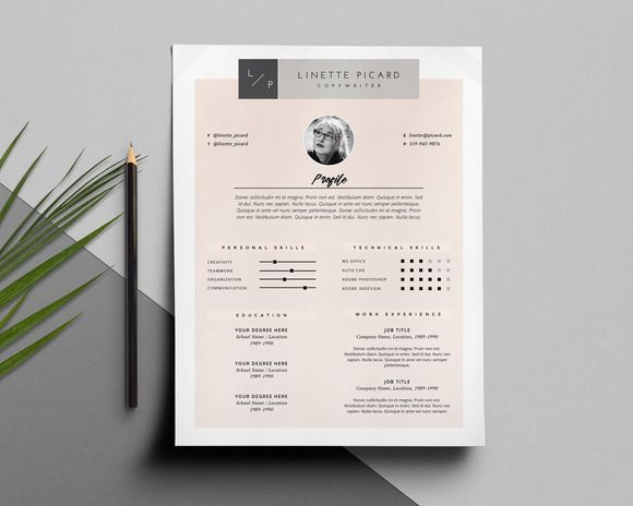 Page Resume Template  Cv Template Creativework  Resume