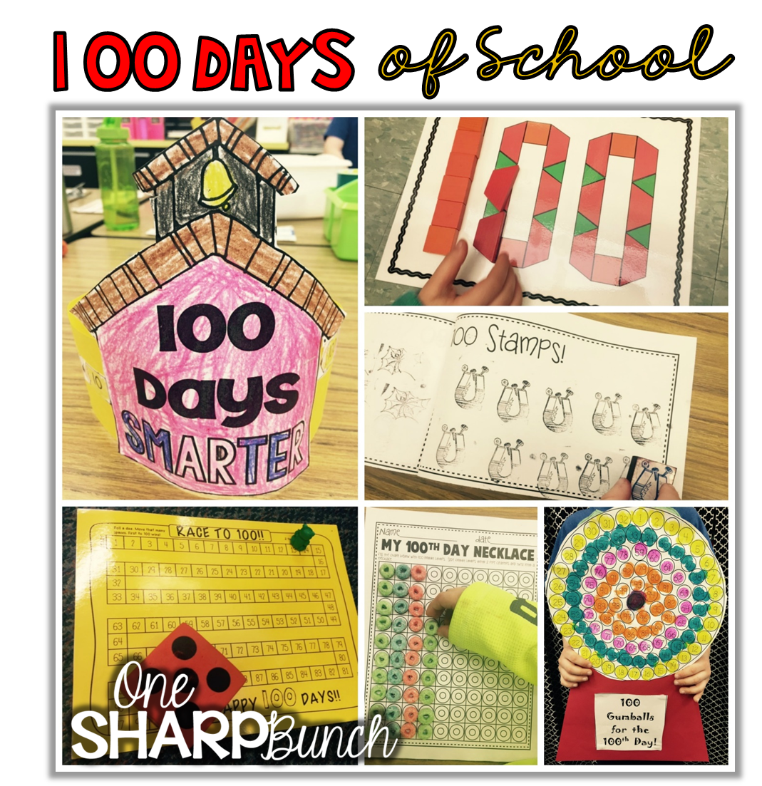 100th Day Fun Amp Freebie Links One Sharp Bunch